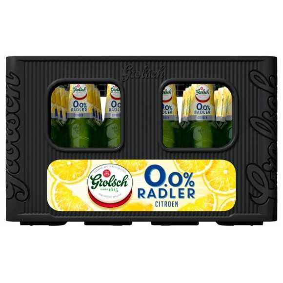 Grolsch 0.0% Radler citroen krat 24 x 30 cl product photo