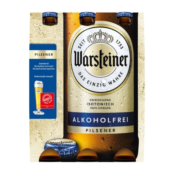 Warsteiner Alkoholfrei pils fles 6 x 33 cl product photo