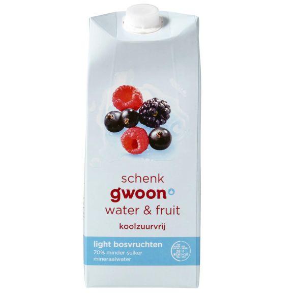 g'woon Water & fruit bosvruchten light product photo