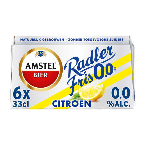 Amstel Radler Fris 0.0 bier blik 6x33cl product photo