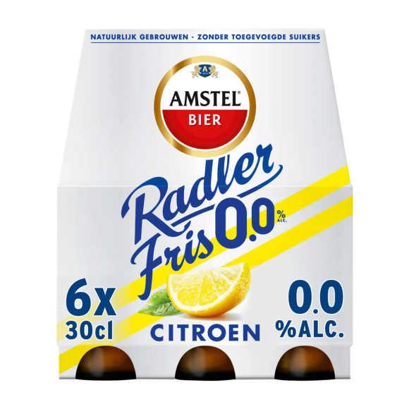 Amstel Radler Fris 0.0 bier fles 6x33cl product photo