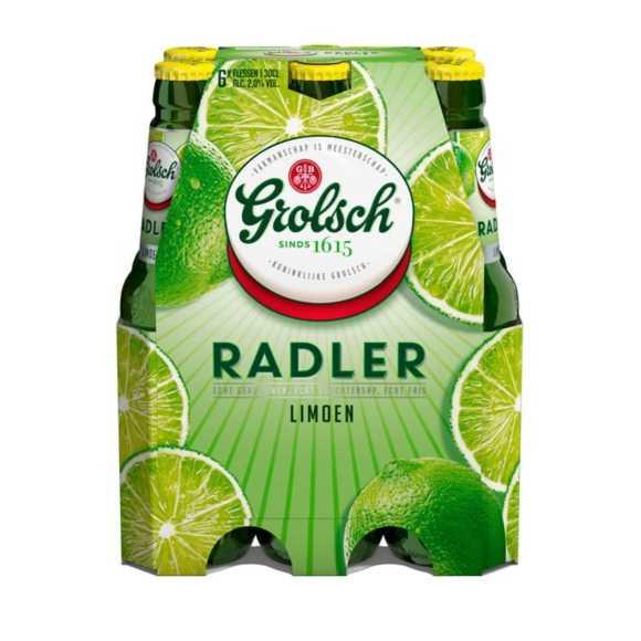 Grolsch Radler limoen bier fles 6 x 30 cl product photo
