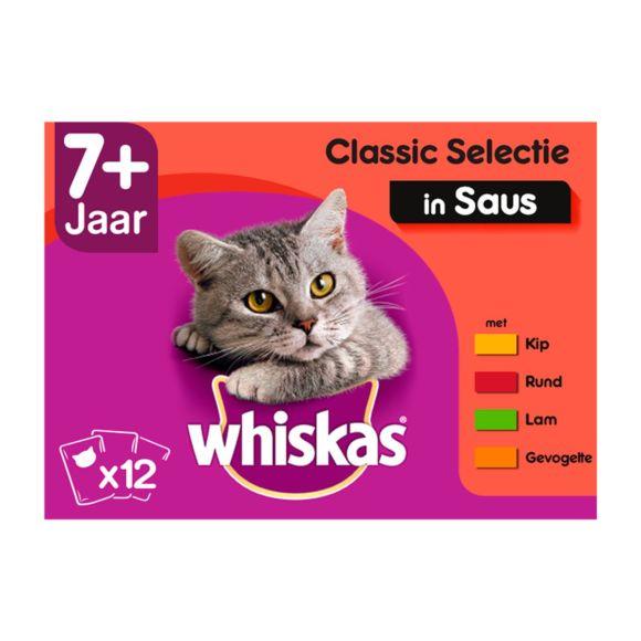 Whiskas kattenvoer nat classic in saus senior 7+ jaar product photo