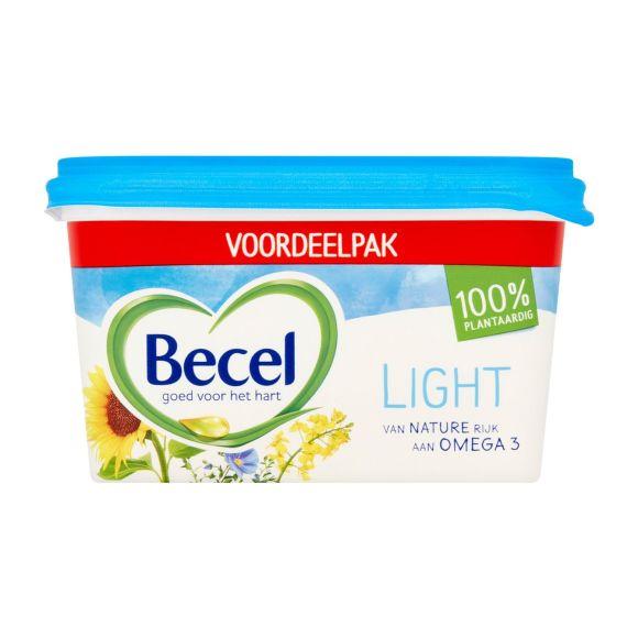 Becel Light halvarine vegan en 100% plantaardig voordeelkuip product photo