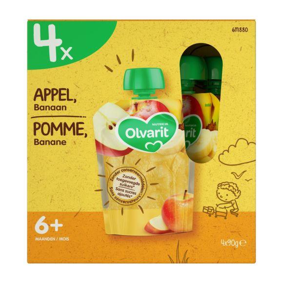 Olvarit Knijpzak multi appel banaan 6 maanden product photo
