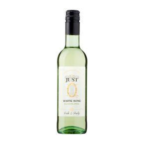 Just 0 Witte wijn 0% klein flesje product photo