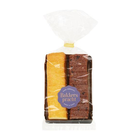 Bakkerspracht Mini cake chocolade/naturel product photo