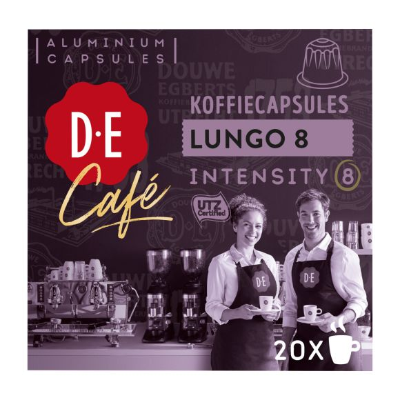 Douwe Egberts D.E Café lungo 8 koffiecups product photo