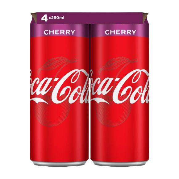 Coca-Cola Cherry blik 4 x 250 ml product photo