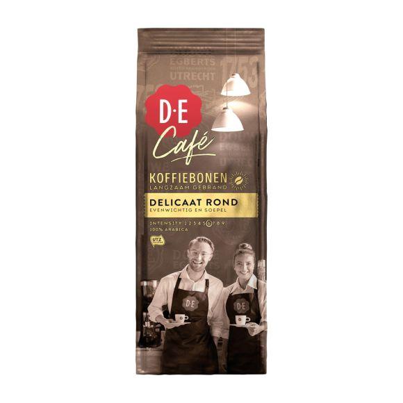 Douwe Egberts D.E Café delicaat rond koffiebonen product photo