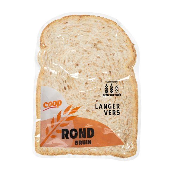 Rond bruin brood half product photo