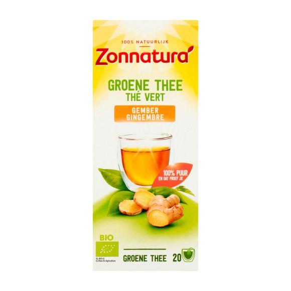 Zonnatura Groene thee gember product photo