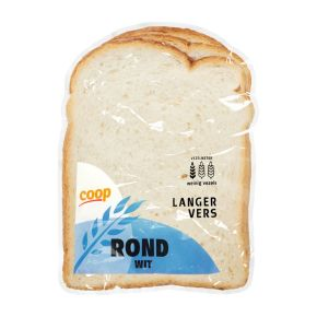 Rond wit brood half product photo