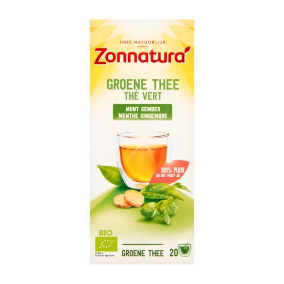 Zonnatura Groene thee munt gember product photo