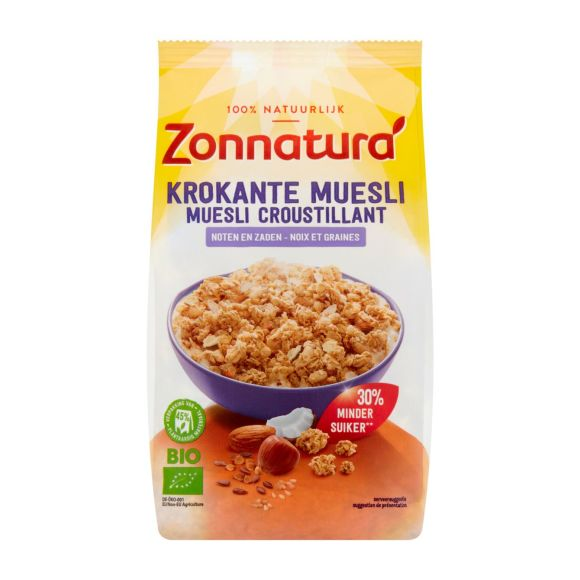 Zonnatura Krokante muesli noten & zaden product photo