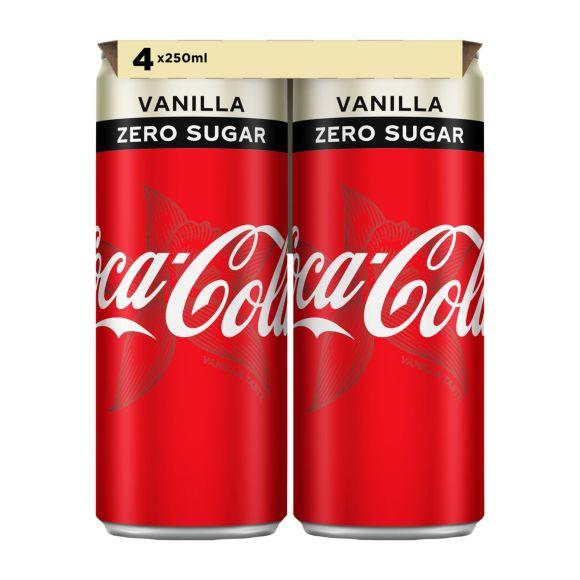 Coca-Cola Zero vanille blik 4 x 250 ml product photo