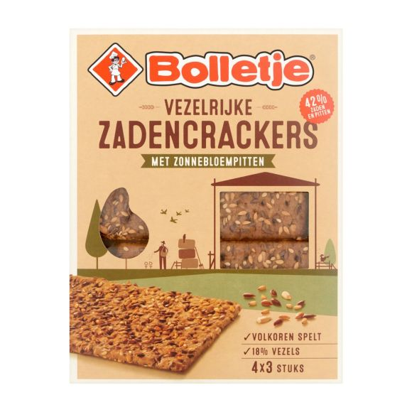 Bolletje Vezelrijk crackers zonnebloempitten en zaden product photo