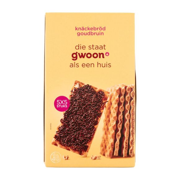 g'woonKnackebrood goudbruin product photo