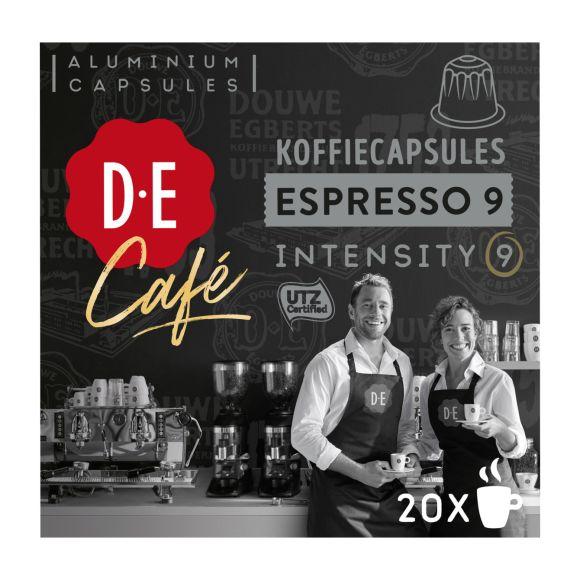 Douwe Egberts D.E Café espresso 9 koffiecups product photo