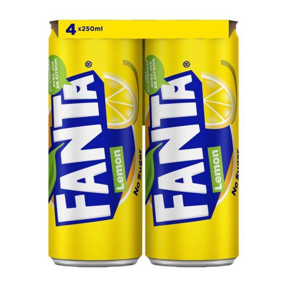 Fanta Lemon no sugar blik 4 x 250 ml product photo