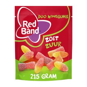 Red Band Duo winegums zoet zuur product photo