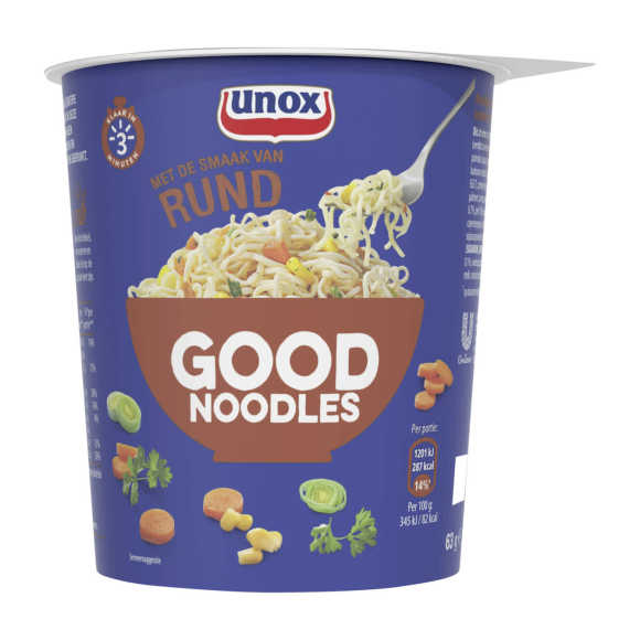 Unox Good Noodles Cup Rund 63 g product photo
