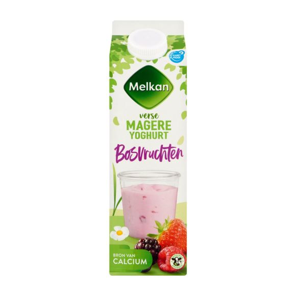Melkan Vruchtenyoghurt bosvruchten 0% vet product photo