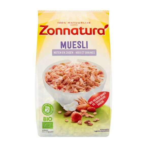Zonnatura Muesli noten en zaden product photo