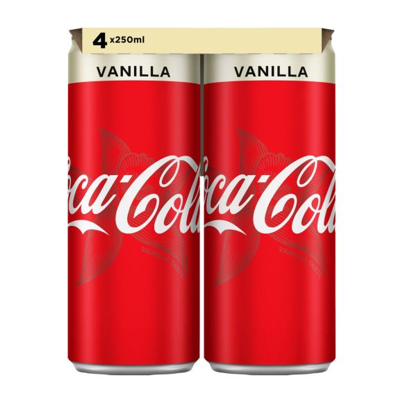 Coca-Cola Vanilla blik 4 x 250 ml product photo