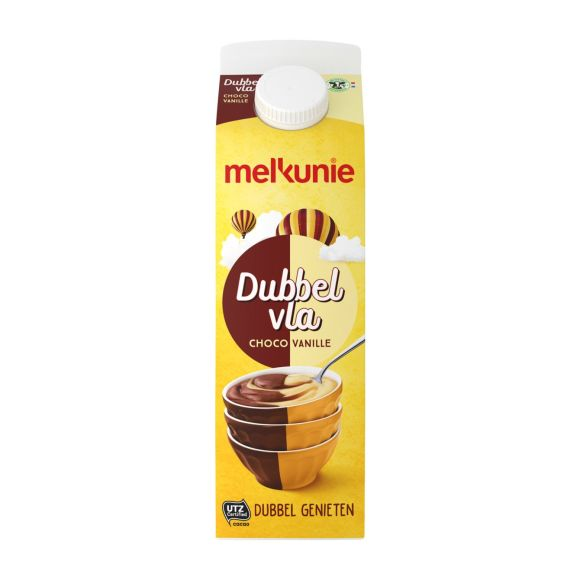 Melkunie Dubbelvla chocolade vanille product photo
