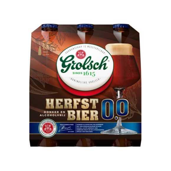 Grolsch Herfstbier 0.0% fles 6 x 30 cl product photo