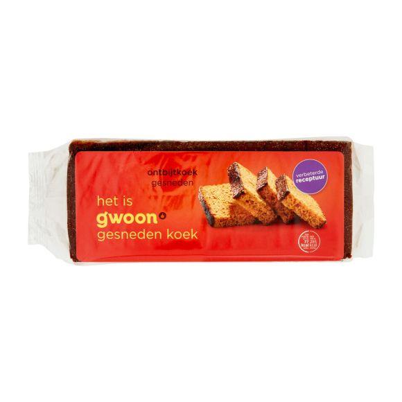 g'woon Ontbijtkoek naturel gesneden product photo
