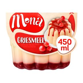 Mona Griesmeel pudding met rode bessensaus product photo