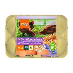 Vrije uitloop eieren granen omega product photo