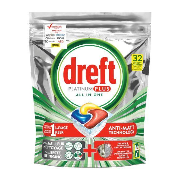 Dreft Platinum Plus Citroen vaatwascapsules product photo