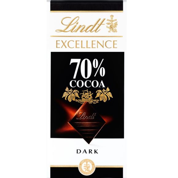 Lindt Excellence puur 70% cacao product photo