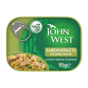 John West Sardinefilets zonder graat in olijfolie product photo