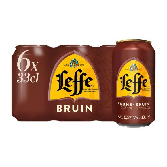 Leffe Bruin Belgisch Abdijbier Blikken 6 x 33 cl product photo