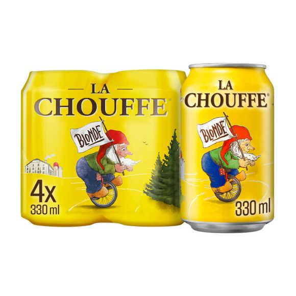 La Chouffe Blond Speciaalbier blik 4pack product photo