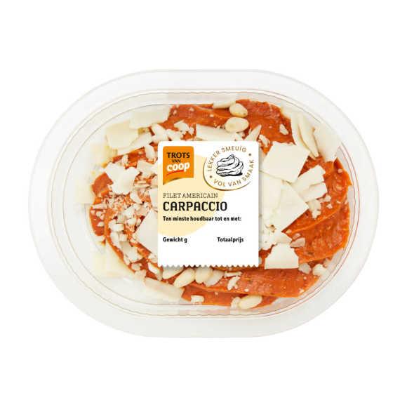 Trots van Coop filet americain carpaccio product photo
