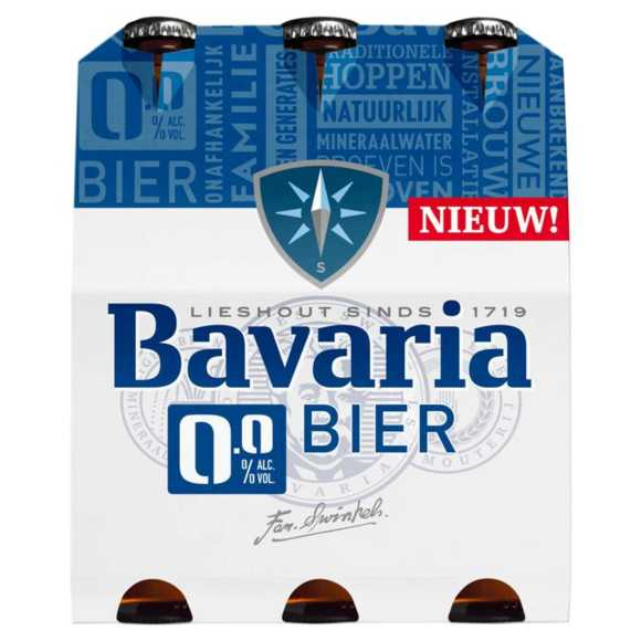 Bavaria 0.0% alcoholvrij bier fles product photo