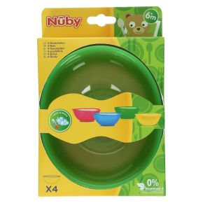 Nuby Set van 4 kommetjes product photo