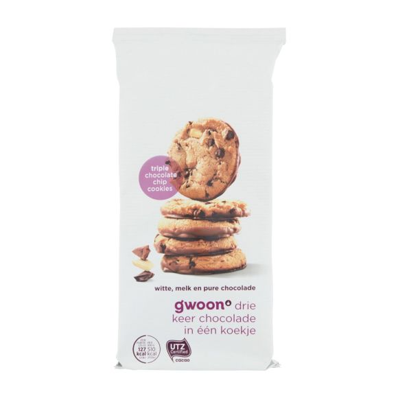 g'woon triple chocolate chip cookies product photo