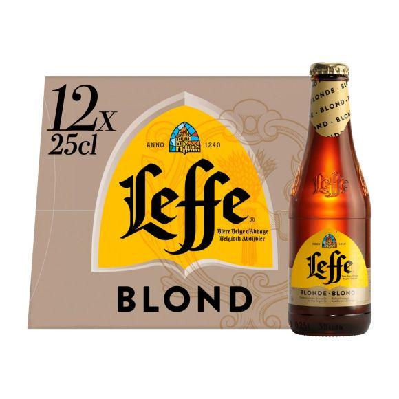 Leffe Blond bier fles 12 x 25 cl product photo