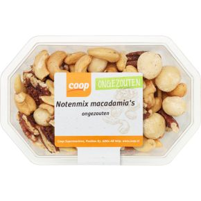 Notenmix macadamia ongezouten product photo