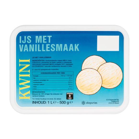 Kwini Vanille ijs product photo