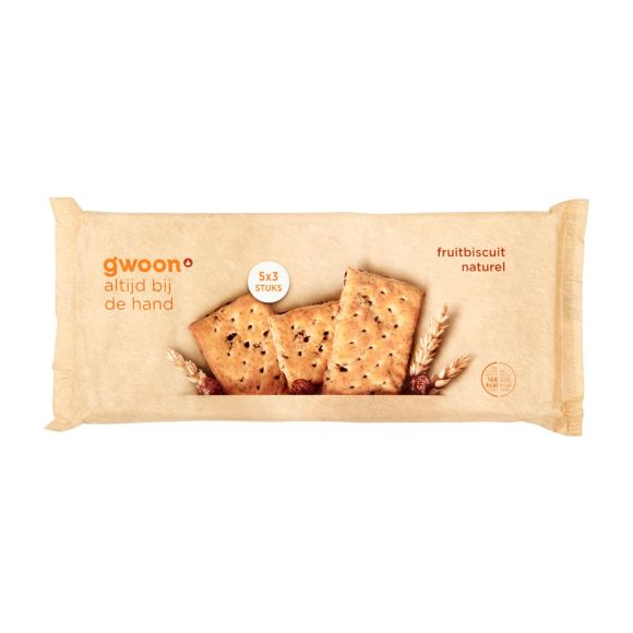 g'woon fruitbiscuit naturel product photo