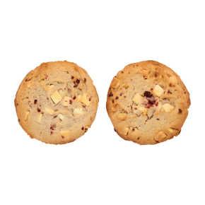 White raspberry chocolate cookie product photo