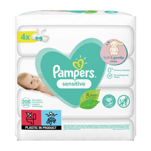 Pampers Sensitive babydoekjes 4 Verpakkingen product photo