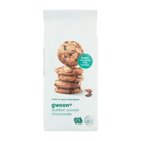 g'woon double chocolate chip cookies product photo